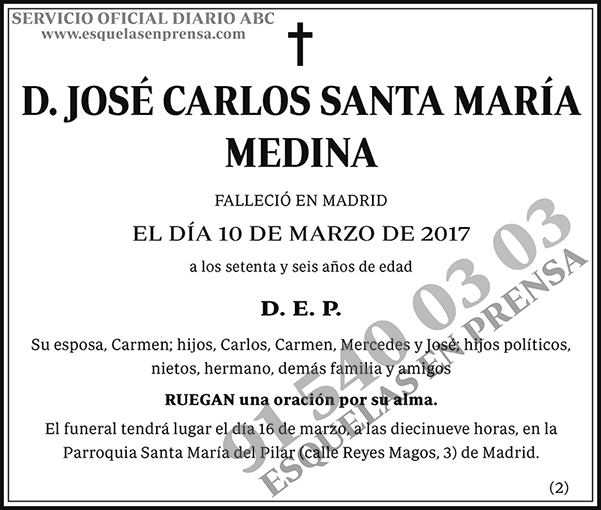 José Carlos Santa María Medina